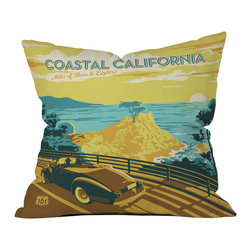 Anderson Design Group Coastal California Outdoor Throw Pillow - Do you hear that noise? it's your outdoor area begging for a facelift and what better way to turn up the chic than with our outdoor throw pillow collection? Made from water and mildew proof woven polyester, our indoor/outdoor throw pillow is the perfect way to add some vibrance and character to your boring outdoor furniture while giving the rain a run for its money.