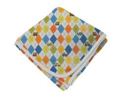 SheetWorld - SheetWorld Flannel Receiving Blanket - Argyle Transport Blue - Made in USA - Receiving Blanket is made from a double layer of the finest 100% cotton flannel material and is reversible. It's finished off with a matching cotton binding. Features the cutest argyle transport print. Perfect blanket for your perfect baby. (matching sheets available)