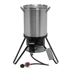 Brinkmann - Outdoor Turkey Fryer Kit - 30 Quart Stockpot Turkey Fryer and outdoor gas stove