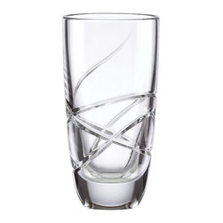 Lenox - Lenox Adorn 4-piece Highball Glass Set - A fanciful cut pattern contrasts timeless forms in this four-piece Adorn crystal highball glass set. These luminous highball glasses gleam with the exquisite craftsmanship of Lenox lead crystal.