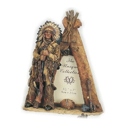 """PS - 9 Inch Native American Male Outside Tipi 3.5 x 5"""" Photo Frame - This gorgeous 9 Inch Native American Male Outside Tipi 3.5 x 5"""" Photo Frame has the finest details and highest quality you will find anywhere! 9 Inch Native American Male Outside Tipi 3.5 x 5"""" Photo Frame is truly remarkable."""