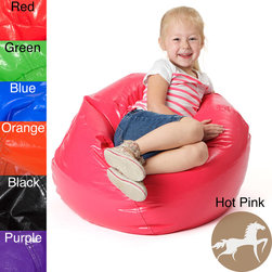 Christopher Knight Home - Christopher Knight Jack and Jill Bean Bag Lounge Chair - Give the kiddo a seat for kicking back after an exhausting day of playing house with this brightly colored vinyl-and-foam beanbag chair. The polystyrene beans provide great comfort, and you can choose from a rainbow of colors to please your little one.