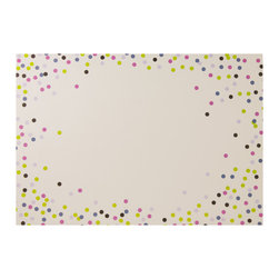 """Enchante Accessories Inc - Sheffield Home Protective Decorative Paper Placemats (40 Count Pad) - Paper placemats, 40 count Pad  Peel off stack that can easily set on a table and easily disposed of after use Decorative bistro inspired fork, knife, and spoon """"bon appetit"""" print Protects your table from water stains and scratches  Measures 18 in. x 12.5 in.    Measures: L:.25 in. x W:18 in. x H:12.5 in. Decorate your table top with this set of 40 bistro inspired paper placements from Sheffield Home.  The Sheffield Home Protective Decorative Paper Placemats are designed to protect and decorate any table top at any meal.  This set of paper placemats includes a stack of 40 peel off mats printed with food safe ink and decorated with a European inspired fork, knife, and spoon graphic print and the welcoming words """"bon appetit. in.  With a look that you may find in a casual corner bistro, the elegant design adds a distinctive touch to any tabletop and helps to sets the stage for a delicious meal.The disposable paper design makes for super easy clean up and you won't have to spend the time laundering and ironing these mats as you would with cotton placemats.  They can be peeled off the stack to set your table with ease and simply tossed away when the meal is over.  These paper mats not only add a stylish touch to your table top, but help to protect the wood or the finish of your dining table from water stains, scratches, and heat that can radiate from the bottom of a warm plate.  These paper placemats are versatile, stylish, and effective and can be used in any casual kitchen, in a laidback restaurant or coffee shop, or at any relaxed family meal.  Paper placemats are ideal for families with kids, as the kids can draw or write on them before or after a meal is served.  Unlike traditional vinyl, cork, or cotton placemats, there is no need to worry about food spilling and staining them or heavy plates making indentations that can""""t be removed.  They provide a carefree and effor"""