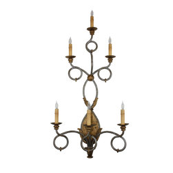 New Hand Made Iron Sconces - Six arm hand made iron sconce. This is one of our new custom designs of hand made wrought iron sconces.