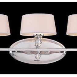 Savoy House - Savoy House 8-1041-3-109 Murren 3 Light Sconce in Polished Nickel 8-1041-3-109 - A Transitional look, combining the best of Traditional and Contemporary styles, with a cleaner, less ornamented design. The Polished Nickel finish works well with the hardback white fabric shades. This versatile family includes a rod hung three light trestle and an assortment of incredibly unique pendants and bath bars.Bulb Type: G9 Bulb-Included: Yes Collection: Murren Design Style: Midtown Vogue Energy Star Compliant: No Extends: 9 Finish: Polished Nickel Height: 9 Light Direction: Down Lighting, Up Down Lighting Max Wattage: 40 Number of arms: 1 Number of Lights: 3 Safety Rating: UL, CUL Shades: White Shade Socket 1 Base: G9 Socket 1 Max Wattage: 40 Suggested Room Fit: Dining Room, Entry Foyer, Hallway, Office Voltage: 120 Weight: 6.1 Width: 26