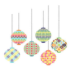 WallPops - Lanterns Wall Art Decal Kit - Wherever the eye wanders it should have an objet