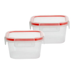Snapware - Snapware Airtight Miniature Food Storage Containers (Pack of 2) - This food storage container is a must have for any kitchen. These containers are microwave, dishwasher and freezer safe, durable airtight gasket seal, modular stack-able design and come with an easy open-and-close four-latch polypropylene lid.