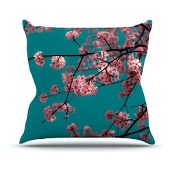 """Kess InHouse - Ann Barnes """"Dreaming In Pink"""" Blue Pink Throw Pillow (26"""" x 26"""") - Rest among the art you love. Transform your hang out room into a hip gallery, that's also comfortable. With this pillow you can create an environment that reflects your unique style. It's amazing what a throw pillow can do to complete a room. (Kess InHouse is not responsible for pillow fighting that may occur as the result of creative stimulation)."""