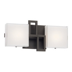 George Kovacs - George Kovacs P5312-467B-L Alecias Necklace 2 Light LED Bathroom Wall Vanity - Sable Bronze Finish