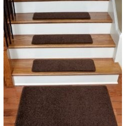 "Dean Flooring Company - Dean Serged DIY 27"" x 9"" Imperial Carpet Stair Treads  (13), Walnut, Set of 13 P - Dean Serged DIY 27"" x 9"" Imperial Carpet Stair Treads (13) with Landing Mat - Color: Walnut : Imperial Carpet Stair Treads with Landing Mat by Dean Flooring Company Color: Walnut Color Matching Finished (Serged and Yarn) Edges with Rounded Corners. Set includes 13 pieces plus a matching 2'x3' landing mat. Each tread measures approximately 27"" x 9"". Also easy to spot clean and vacuum. Helps prevent slips on your hardwood stairs. Great for helping your dog easily navigate your slippery staircase. Reduces noise. Reduces wear and tear on your hardwood stairs. Attractive: adds a fresh new look to your staircase. Easy DIY installation with double sided carpet tape (included). Made from attractive, comfortable cut pile residential carpeting. Matches our peel and stick carpet tiles. Made in the USA! Add a touch of warmth and style to your home today with stair treads from Dean Flooring Company!"