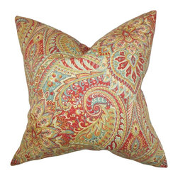 The Pillow Collection - Katell Floral Pillow - Create a customized look to your interiors with this accent pillow. This throw pillow is embellished with a floral pattern in combination of bright hues of orange, green, blue, red and white. Mix and match with solids and other patterns for a completely unique decor style. Constructed with 100% soft cotton fabric. Hidden zipper closure for easy cover removal.  Knife edge finish on all four sides.  Reversible pillow with the same fabric on the back side.  Spot cleaning suggested.