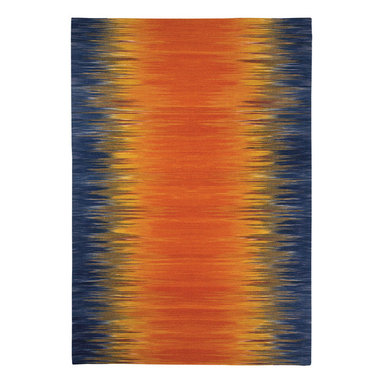 Flash rug in Sunburst - Make your home the star with Flash, an updated version on the Ikat pattern.  Giving a Chic Ombre vibe, these fashionable colors make a bold statement in many areas of a home.