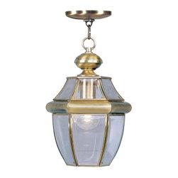 Joshua Marshal - Antique Brass Hanging Lantern - Antique Brass Hanging Lantern