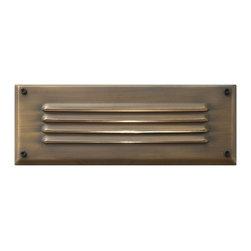 "Hinkley Lighting - Hinkley Lighting 1594MZ Brass Louvered Brick Deck Light - Housing Dimension: 2.5"" H x 7.75"" W x 3.75"" D"