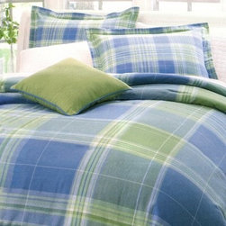 Park B. Smith Atelier Bedding Set - Let your sheets do the talking with the Park B. Smith Atelier Bedding Set. This striking plaid set is bright with greens, blues, and ivory, and is just right for you. Designed for years of use, this bedding set is made from 100% cotton fabric and is machine-washable for easy maintenance. Available in your choice of size. Turn your bedroom into a sanctuary with this beautiful bedding set.Bedding Set Components:Queen:Queen comforter, 2 standard shams, bedskirtKing:King comforter, 2 king shams, bedskirtTwin:Twin comforter, 1 standard sham, bedskirt