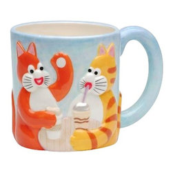 """ATD - 6.88 Inch Multicolored """"Tom's Cats"""" Coffee Chat Themed Decorative Mug - This gorgeous 6.88 Inch Multicolored """"Tom's Cats"""" Coffee Chat Themed Decorative Mug has the finest details and highest quality you will find anywhere! 6.88 Inch Multicolored """"Tom's Cats"""" Coffee Chat Themed Decorative Mug is truly remarkable."""