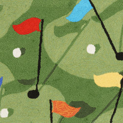"Trans-Ocean - 20""x30"" Frontporch Golf Grass Mat - Richly blended colors add vitality and sophistication to playful novelty designs.Lightweight loosely tufted Indoor Outdoor rugs made of synthetic materials in China and UV stabilized to resist fading.These whimsical rugs are sure to liven up any indoor or outdoor space, and their easy care and durability make them ideal for kitchens, bathrooms, and porches. Made in China."