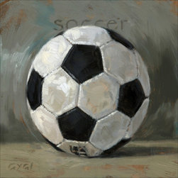 None - 'Amberton Publishing Soccer Ball' Canvas Art - Artist: Unknown Title: Amberton Publishing Soccer Ball Product type: Gallery-wrapped canvas art