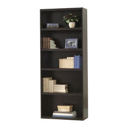 Ameriwood - Ameriwood 5 Shelf Wood Bookcase in Dark Russet Cherry - Ameriwood - Bookcases - 9602303P - Five shelf bookcase (3 adjustable) Perfect for the living room bedroom or home office. Provides room to store and display books bins collectibles and more. Finished in Dark Russet Cherry and it's easy to assemble with household tools.