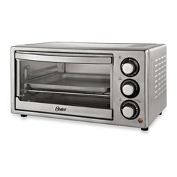 Oster - Oster Brushed Stainless Steel Convection Countertop Oven - This handsome convection countertop oven can get meals started and on the table quickly and efficiently. Its large capacity and dual rack positions accommodate a variety of foods like frozen pizzas, 6 slices of bread, roasts, pies, casseroles, and more.