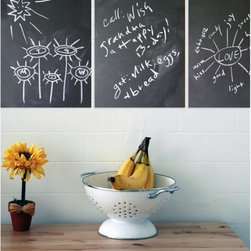 WallCandy Arts - WallCandy 12 in. Chalk Board Decals - Set of 3 Multicolor - CBFSM - Shop for Chalkboards from Hayneedle.com! Draw a drawing remember a memo or lay down a list on the WallCandy 12 in. Dry Erase Decals - Set of 3. These handy put-anywhere boards work on any smooth surface and with any dry-erase markers and can be repositioned as often as you like. Keep 'em together or split 'em up ... the possibilities here are endless! Each board measures 9 x 12 inches.