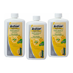 Frontgate - Set of Three 12 oz. ALLCLEAR NATURALS™ Concentrates - 100% natural concentrate harnesses the power of Geraniol, an extract of the lemon grass plant. Provides protection for up to 2 hours and can be misted as often as needed. Each bottle of concentrate dispenses 25 three-minute applications.