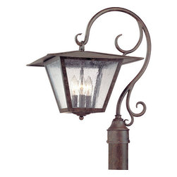 "Troy Lighting - Troy Lighting P2955 Potter 3 Light Post Light - Troy Lighting P2955 Potter 3 Light 20.5"" High Outdoor Post LightGraceful hand-forged iron rods support the a wide brimmed lantern on these exterior sconces from the Potter Collection.Troy Lighting P2955 Features:"