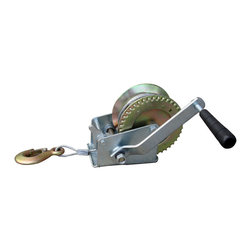 Buffalo Tools - Sportsman Series 1000 Lb Hand Winch - Pull out stumps, move logs, pull cars onto trailers, or trailer your boat with the Sportsman Series 1000 Lb Hand Winch. This Hand Winch bolts down to a secure spot on your trailer or truck bed to pull up to 1,000 pounds. This handy device is great to have around for jobs that require extra pulling power.