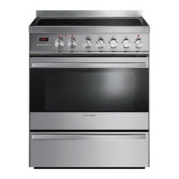 Fisher Paykel - OR30SDPWIX1 30 Freestanding Range with 4 Induction Elements  3.6 Cu. Ft. Capacit - This unit features induction cooking technology high acid resistant graphite enamel interior pyrolytic self clean cycle removable oven door 6 button electronic clock and stainless steel dials