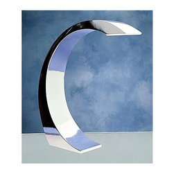 Lumisource - Touch-Activated Curved Lamp in Chrome Finish - Cool and curvaceous chrome. The Arc Touch Lamp is both sleek and stylish. Simply touch the surface to activate the super-bright LED light. Perfect for home or office. 3 in. W x 13 in. D 13 in. H (5 lbs.)