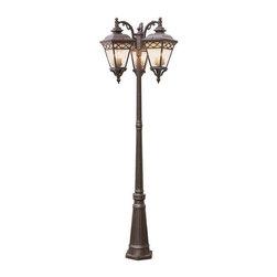 Trans Globe Lighting - Trans Globe Lighting 50518 RT Outdoor Multi Light Post Light In Rust - Part Number: 50518 RT