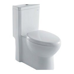 "Ariel - Ariel Royal CO1037 Dual Flush Toilet 28x14x30 - Ariel cutting-edge designed one-piece toilets with powerful flushing system. It?s a beautiful, modern toilet for your contemporary bathroom remodel. Dimensions: 28 x 14 x 30, UPC Approved, 12"" Rough in For easy standard installation, High Quality Glaze that resist stains and Microbes, Seat is Included with the Toilet, Fully Glazed Trapway for smoother flushes, Elongated Bowl, Elongated Bowl"