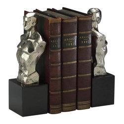 Cyan Design - Hercules Bookends - Hercules bookends - chrome with black granite base