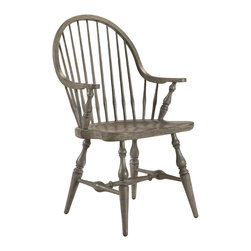 French Heritage - Morlaine Chairs, Slate Grey, Arm Chair - This Morlaine chair withits classic spindled back, continuous arm, and carved saddle seat for comfortis always at home. - Two Doors. - Four Drawers. - Weight: 27lbs