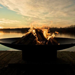 """Fire Pit Art Asia 72"""" Wood Burning Fire Pit -"""