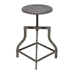 Nuevo Living - Torsion Adjustable Stool, Set of 2 - Your sense of style is perfect right where it is, but you still may want to adjust your seating. So add this iron stool to your favorite modern setting — you can tailor the height to the task at hand and look great doing it.