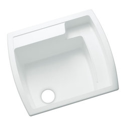 Sterling - Sterling by Kohler Latitude 995 Single Basin Drop In Utility Sink - 995-0 - Shop for Commercial Laundry and Utility from Hayneedle.com! About SterlingEstablished in 1907 and quickly recognized as a leading manufacturer of faucets and brassware Sterling has been known for their diversity of products and industry-leading designs for over a century. In 1984 Sterling was acquired by Kohler Co. to create a mid-priced full-line plumbing brand and allow Kohler the opportunity to sell their products in retail stores. Over the years Kohler quickly began acquiring other companies to help enhance the Sterling line of products that was quickly growing into the likes of stainless steel sinks compressed fiberglass bathtubs and enclosures and vitreous china products. With that said Kohler was able to take a modestly sized faucet company and turn it into a successful full-line brand. Today Sterling is a brand of Kohler co. and their diversity in products craftsmanship and innovation over a broad range of price points makes them a recognized leader in kitchen and bath design.