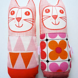 Scandinavian Plush Toy Cat Softie by Jane Foster - These printed kitties are absolutely adorable. Again, another thing I wouldn't mind cleaning off the floor. It'd be fun to get an entire animal collection going for encouraging imaginary play.