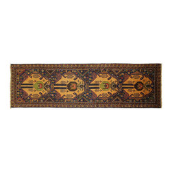 Manhattan Rugs - New Stunning Navy Balouch Runner 3'x9' Hand Knotted Persian Wool Rug P830 - This is a true hand knotted oriental rug. it is not hand tufted with backing, not hooked or machine made. our entire inventory is made of hand knotted rugs. (all we do is hand knotted)