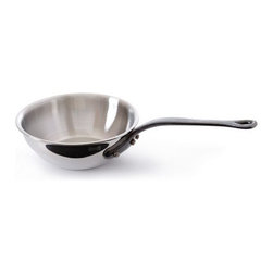 Mauviel - Mauviel M'cook Stainless Steel Curved Splayed Saute Pan, Cast Iron Handle, 3 qt. - 5 ply Construction - High performance cookware, works on all cooking surfaces, including induction.