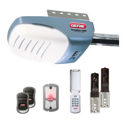 Genie - Genie ChainMax 1000 3/4 HP Chain Drive Garage Door Opener - 37280U - Shop for Garage Doors Openers and Accessories from Hayneedle.com! The Genie ChainMax 1000 3/4 HP Chain Drive Garage Door Opener provides a quiet operation with a soft start and stop. An auto-seek dual frequency system prevents outside interference from hindering performance while the Intellicode rolling-code encryption technology alters the access-code after each use to prevent unauthorized access. Two 3 button remotes are included a wireless keypad and a deluxe interior wall panel are all included for open/close access. A self-diagnostic feature makes identifying and solving problems a cinch while GenieSense technology monitors power and reduces wear-and-tear. An automatic reverse system combines with the Safe-T-Beam infrared sensors for superior safety. About Genie Company Your wish is the Genie Company's command. Each of their products is constructed with a focus on superior design reliability and safety that's so satisfactory you'd swear it's magic. For over 50 years Genie has provided America with automatic residential garage openers quickly becoming an industry leader. In addition to their garage hardware Genie also offers a number of products for the home including vacuums. For homeowners and commercial users alike Genie has a wide array of products that's perfect for you.