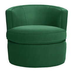 Otis Swivel Chair, Emerald