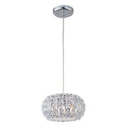 ET2 - ET2 E21803 Three Light Pendant Ceiling Fixture from the Bijou Collection - Three Light Pendant Ceiling Fixture from the Bijou CollectionBejeweled in thousands of crystals over gleaming K9 chrome, Bijou glitters with the unmistakable radiance of rare diamonds. Encasing warm, soft glow within, the smooth orbs of chrome come to life as light shimmers and dances off the crystal-encrusted surface. Whether pendant, sconce, or flush mount, Bijou adorns the room in beauty and richness.Features :