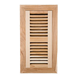None - Image Flooring 4x10-inch Unfinished American Hickory Wood Vent - Image wood vent will enhance the beauty and character of any environment Flush-mount hardwood flooring vent comes ready to finish Vent has self-rimming air register with all-metal damper to moderate air flow from 0 to 100-percent