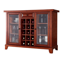 Crosley Furniture - Crosley Newport Sliding Top Bar Cabinet in Classic Cherry - Crosley Furniture - Home Bars - KF40002CCH