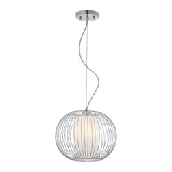 """Eurofase Lighting - Eurofase Lighting 20362 10.5""""H 1 Light Down Lighting Pendant from the Avila Coll - Transitional 10.5""""H 1 Light Down Lighting Pendant from the Avila CollectionA blend of color and texture give these pendants presence in any environment.Features:"""