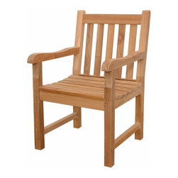 Anderson Teak - Classic Dining Armchair - This simple traditional style-dining armchair will never go out of style, but quietly blends with any other design. The seat is very sturdy as well as the back. Place this chair in your backyard with the dining table, will amazed your family or friends. Cushion is optional and is being made by order.