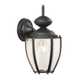 Thomas Lighting - Park Avenue Black Outdoor Wall Sconce - Thomas Lighting SL94707 Park Avenue Black Outdoor Wall Sconce