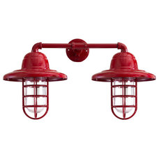 Atomic Double Market Industrial Guard Sconce