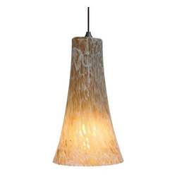 LBL Lighting - LBL Lighting Indulgent Amber 26W 1 Light Down Light Pendant - LBL Lighting Indulgent Amber 26W 1 Light Down Light PendantFeaturing swirled Amber frit accents, this stunning bell shaped pendant will enhance the beauty of any decor. The included 26 watt triple tube compact fluorescent bulb creates ample energy-efficient lighting.LBL Lighting Indulgent Amber 26W Features: